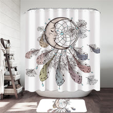 Sleeping Moon Dreamcatcher Shower Curtain & Mat Set