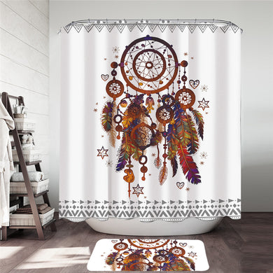 Bohemian Dreamcatcher Shower Curtain & Mat Set