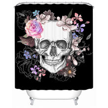 Pink Sugar Skull Shower Curtain - Waterproof