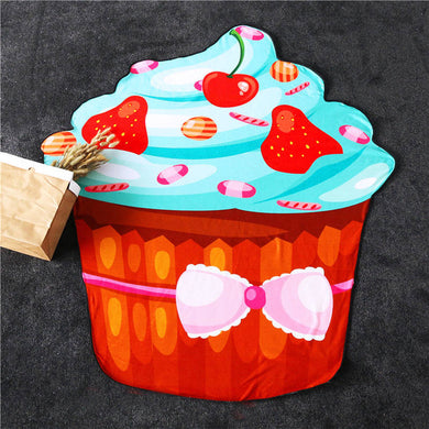Strawberry Cupcake Large Beach Towel