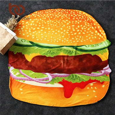 Hamburger Large Beach Towel