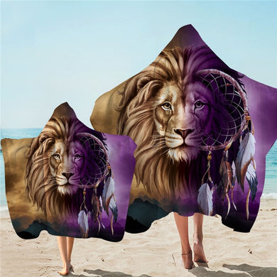 Shades Of Lion Dreamcatcher Hooded Towel - 2 sizes