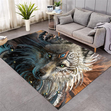 Wolf Warrior by SunimaArt - Large Mat - 3 sizes