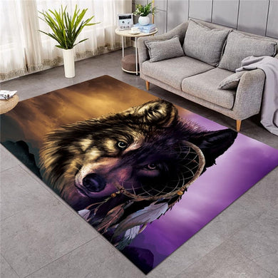 Shades of Wolf Dreamcatcher - Large Mat - 3 sizes