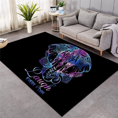 Lotus Elephant - With Words - Large Mat - 3 sizes