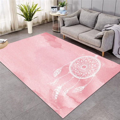 Pink Watercolour Dreamcatcher - Large Mat - 3 sizes