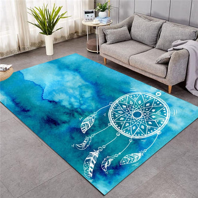 Blue Watercolour Dreamcatcher - Large Mat - 3 sizes