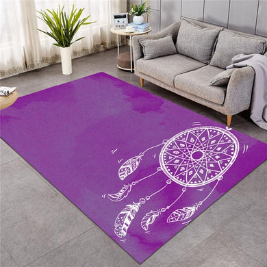 Purple Watercolour Dreamcatcher - Large Mat - 3 sizes