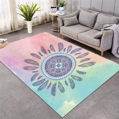 Pink Pastel Mandala - Large Mat - 3 sizes
