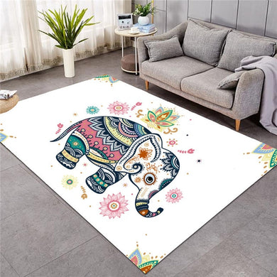 Cute Rainbow Elephant - Large Mat - 3 sizes