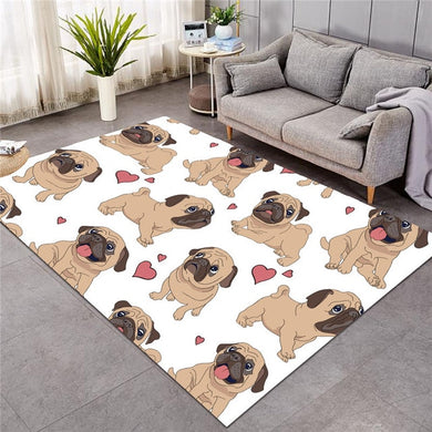 Fawn Pug - White - Large Mat - 3 sizes