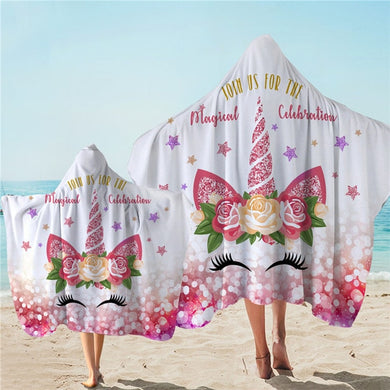 Unicorn Celebration Hooded Towel - 2 sizes