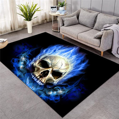 Blue Flame Skull - Large Mat - 3 sizes
