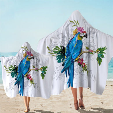 Macaw Hooded Towel - 2 sizes