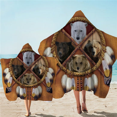 Big Bears Dreamcatcher Hooded Towel - 2 sizes