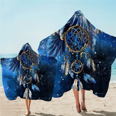 Blue Galaxy Dreamcatcher Hooded Towel - 2 sizes