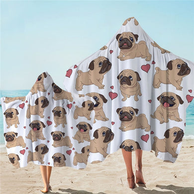 Fawn Pug Hooded Towel - 2 sizes