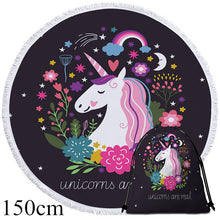 Unicorns Are Real Round Beach Towel - 2 sizes