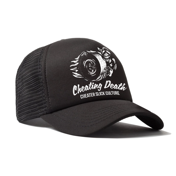 Cheating Death Trucker Hats