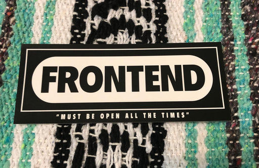 Frontend Magazine Sticker.