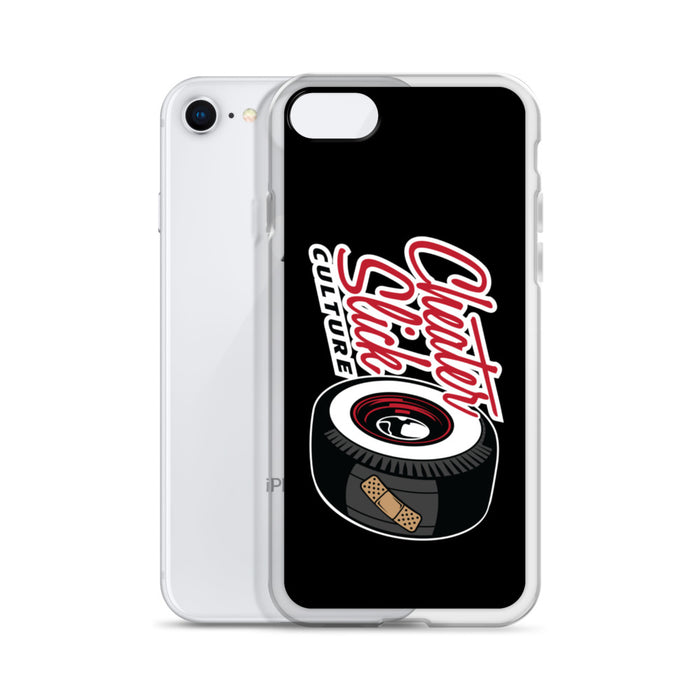 Large Original Logo Black/Red iPhone Case