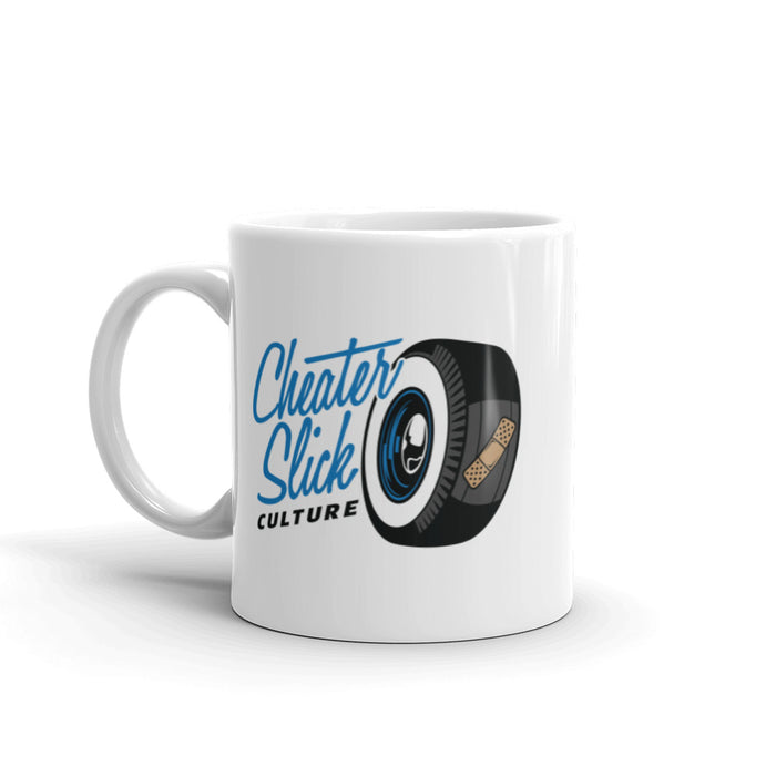 Cheater Slick Culture Blue Logo Mug
