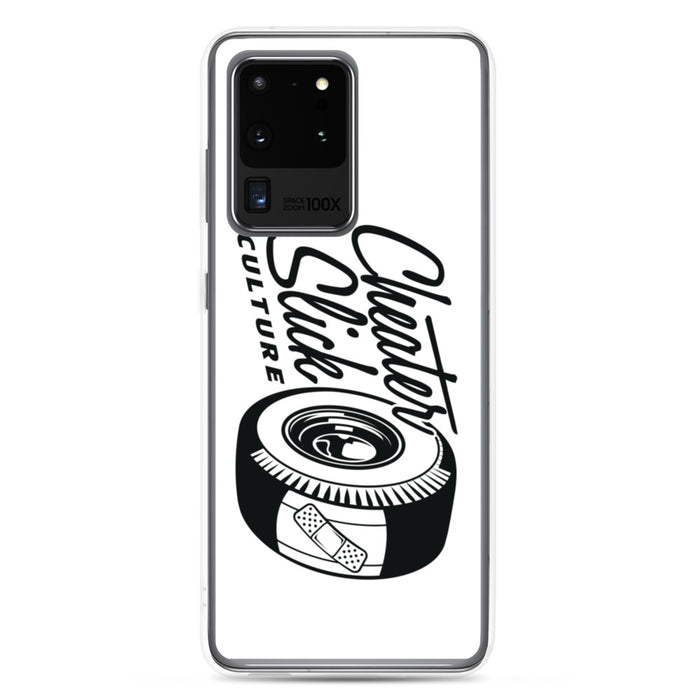Large Original Logo White/Black Samsung Case