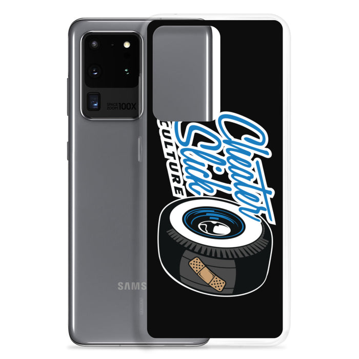 Large Original Logo Black/Blue Samsung Case