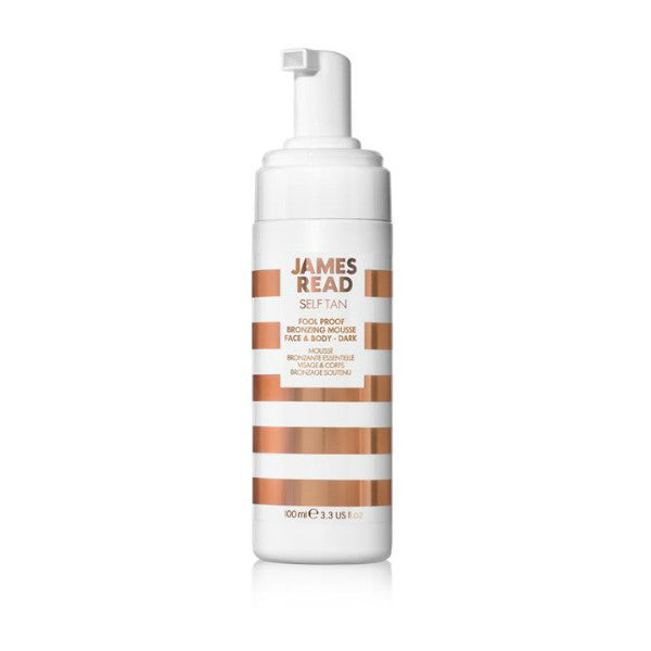 James Read Self Tan Fool Proof Bronzing Mousse Face & Body - Dark (100ml)