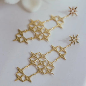 LINDI KINGI  //  Chaos North Star Earrings GOLD