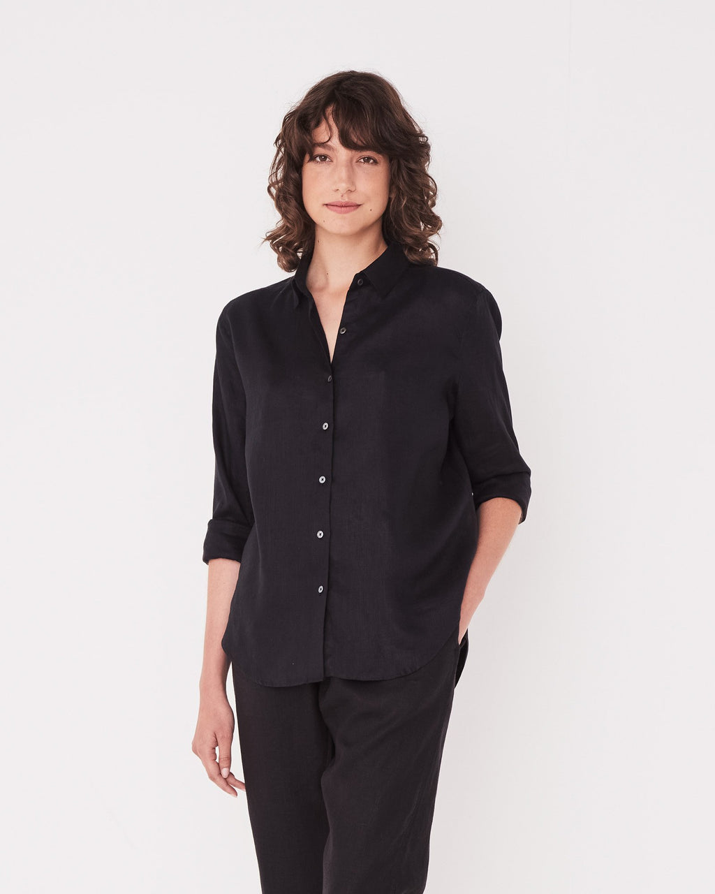 ASSEMBLY LABEL  //  Xander LS Shirt BLACK