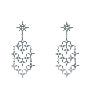 LINDI KINGI  //  Chaos Stardust Earrings SILVER