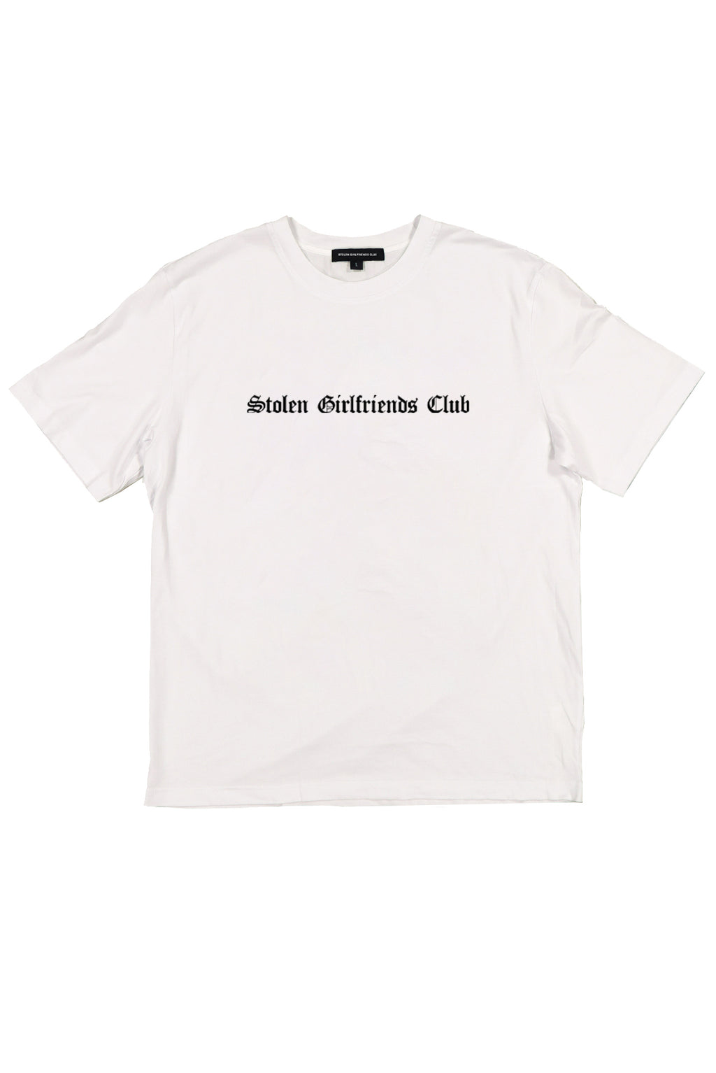 STOLEN GIRLFRIENDS CLUB  //  UNISEX Gothic Logo Tee WHITE