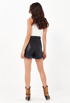 REMAIN  //  Arizona Leather Shorts BLACK