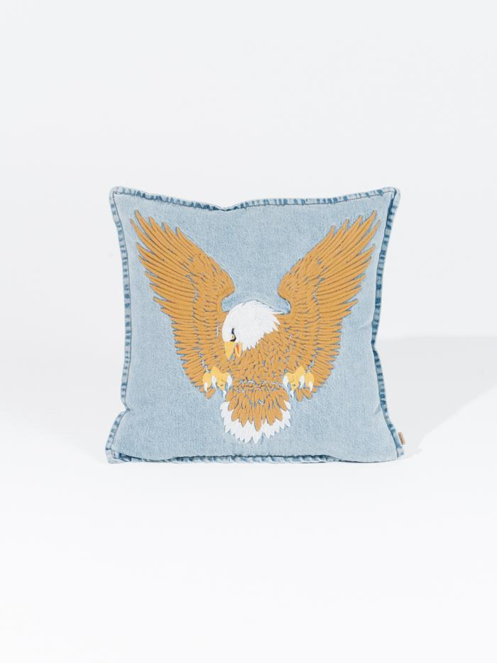 THRILLS  //  Landing Eagle Cushion Cover THRIFT BLUE