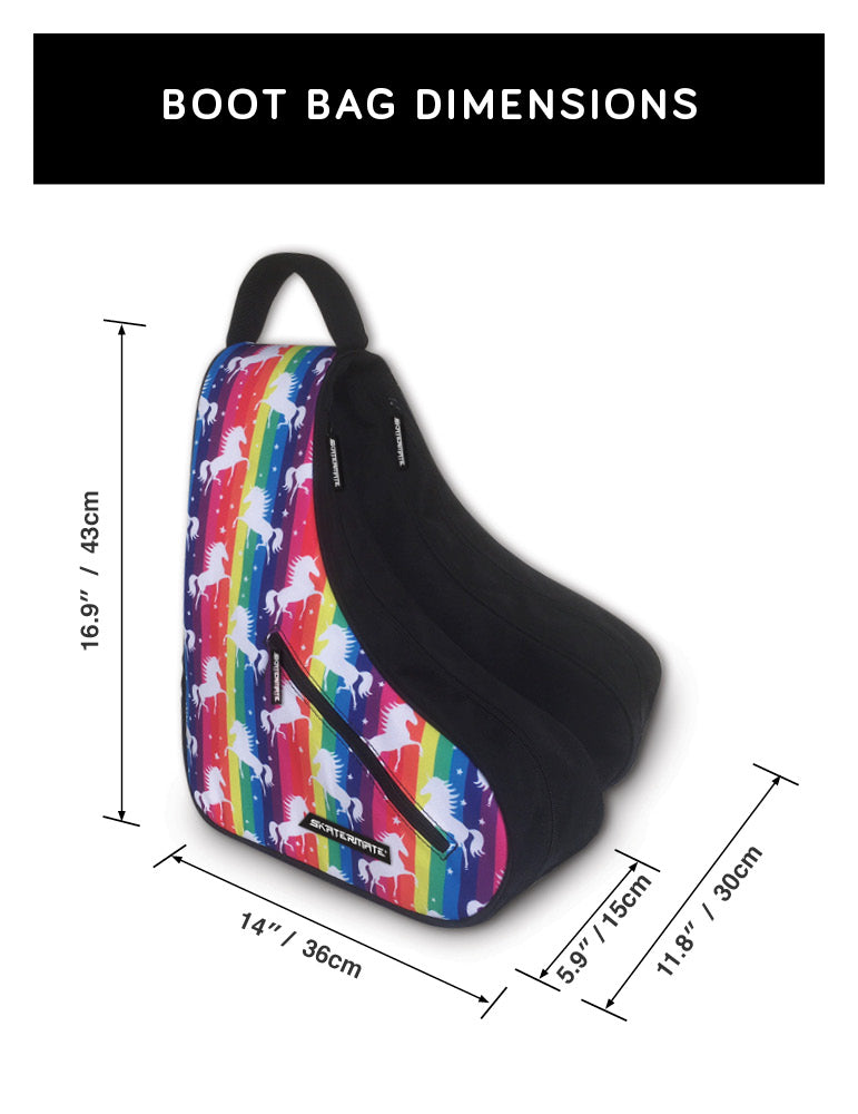 SKATERMATE  //  Boot Bag UNICORN PRINT
