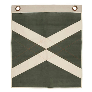PONY RIDER  //  Wall Banner World Flag OLIVE