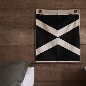 PONY RIDER  //  Wall Banner World Flag BLACK