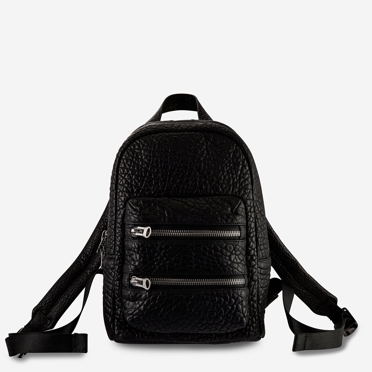 STATUS ANXIETY  //  Racketeer Backpack BLACK BUBBLE