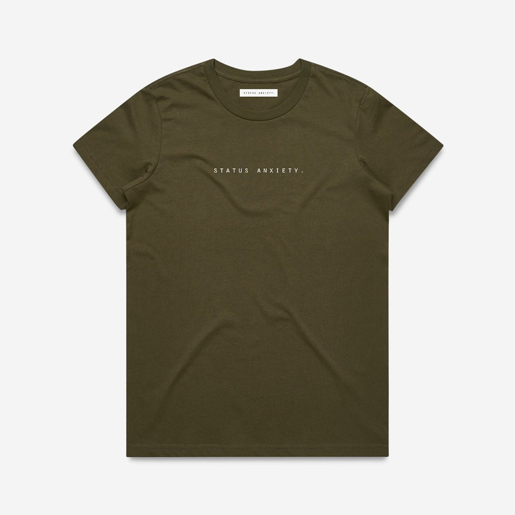 STATUS ANXIETY  //  Think It Over Tee ARMY