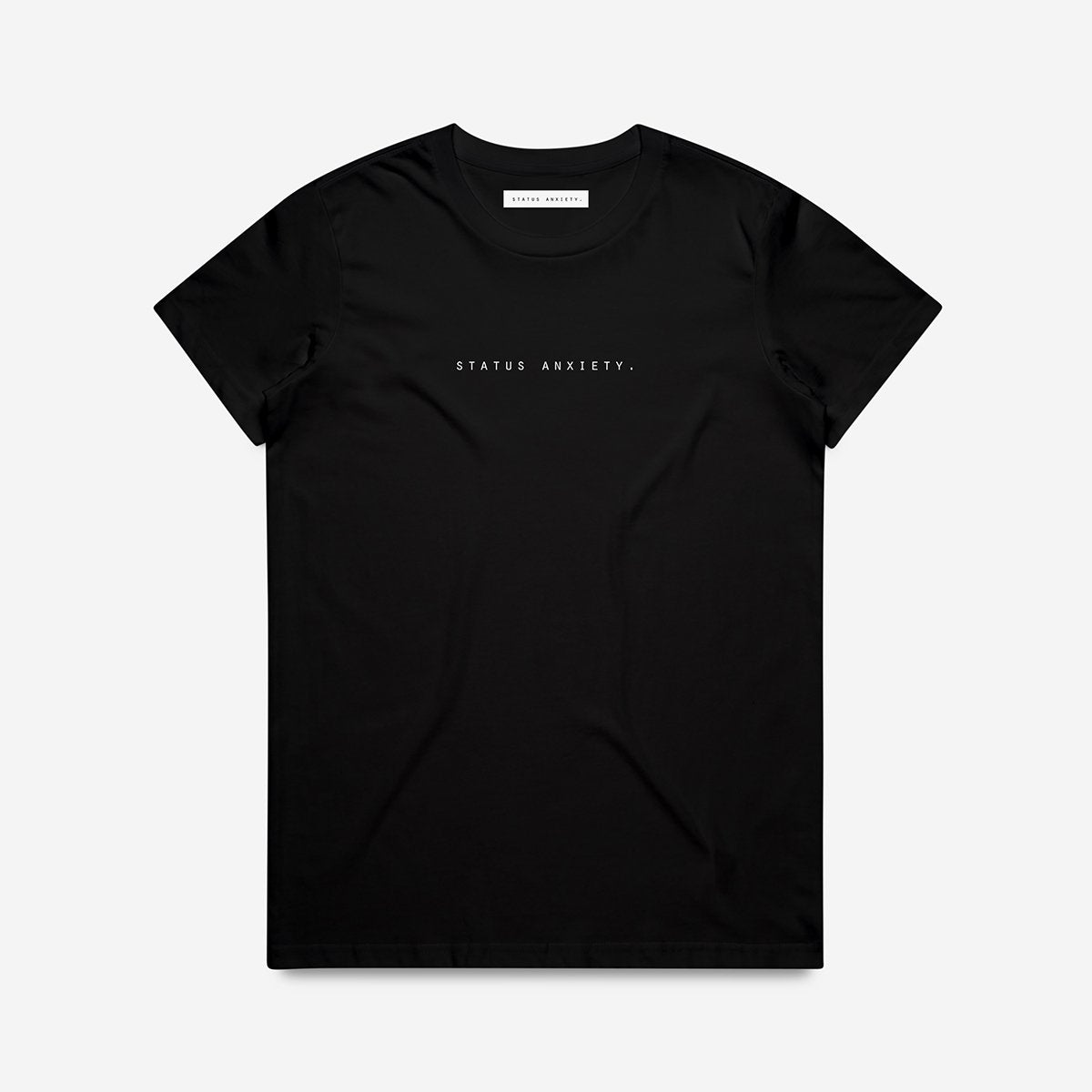 STATUS ANXIETY  //  Think It Over Tee BLACK