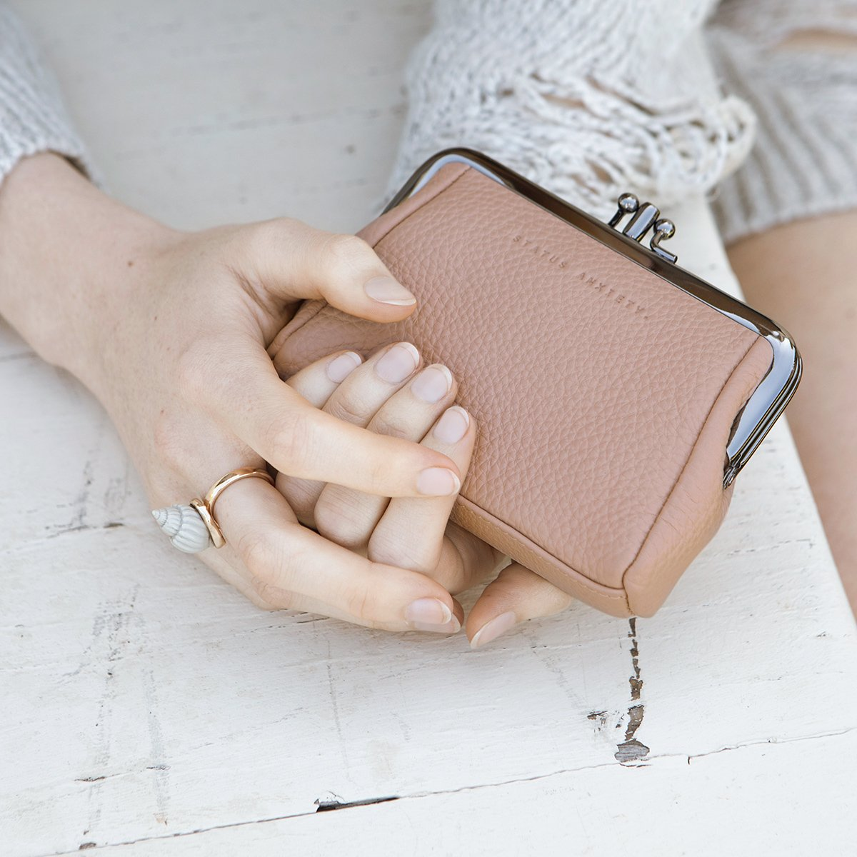 STATUS ANXIETY  //  Volatile Purse DUSKY PINK