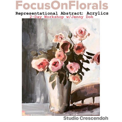 Jenny Doh :: Focus on Florals Painting Workshop :: January 26-27, 2019