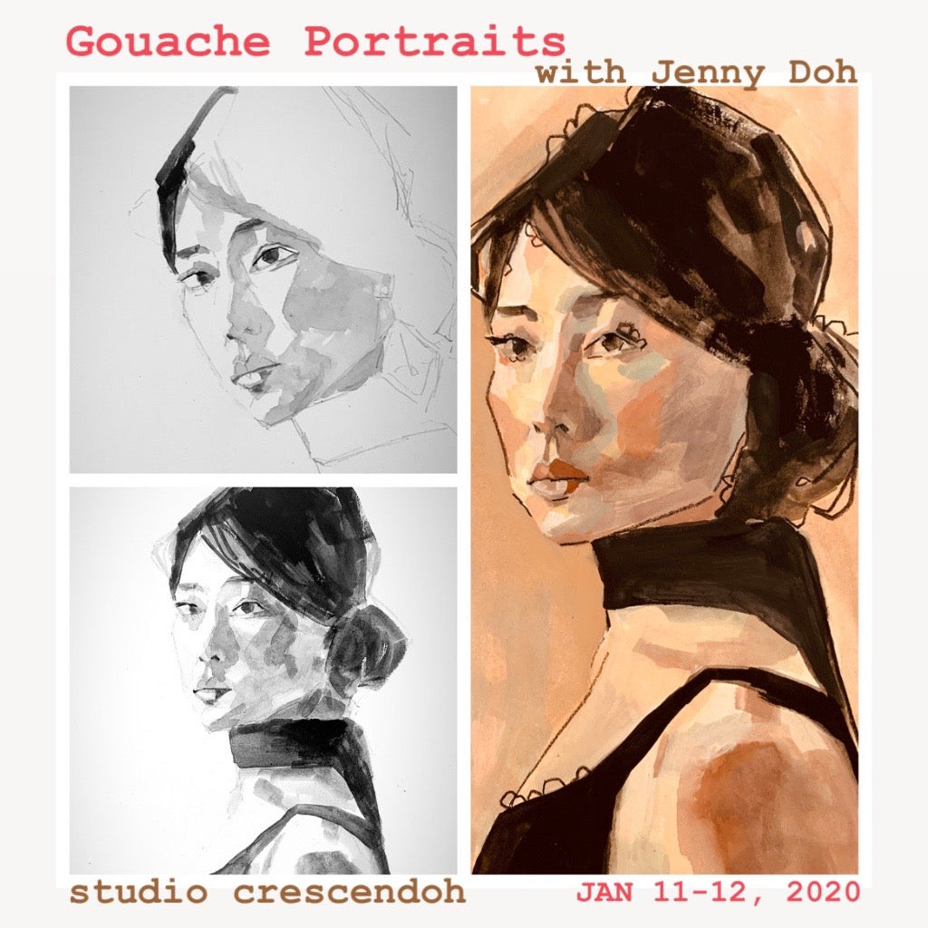 Gouache Portraits with Jenny Doh 2020