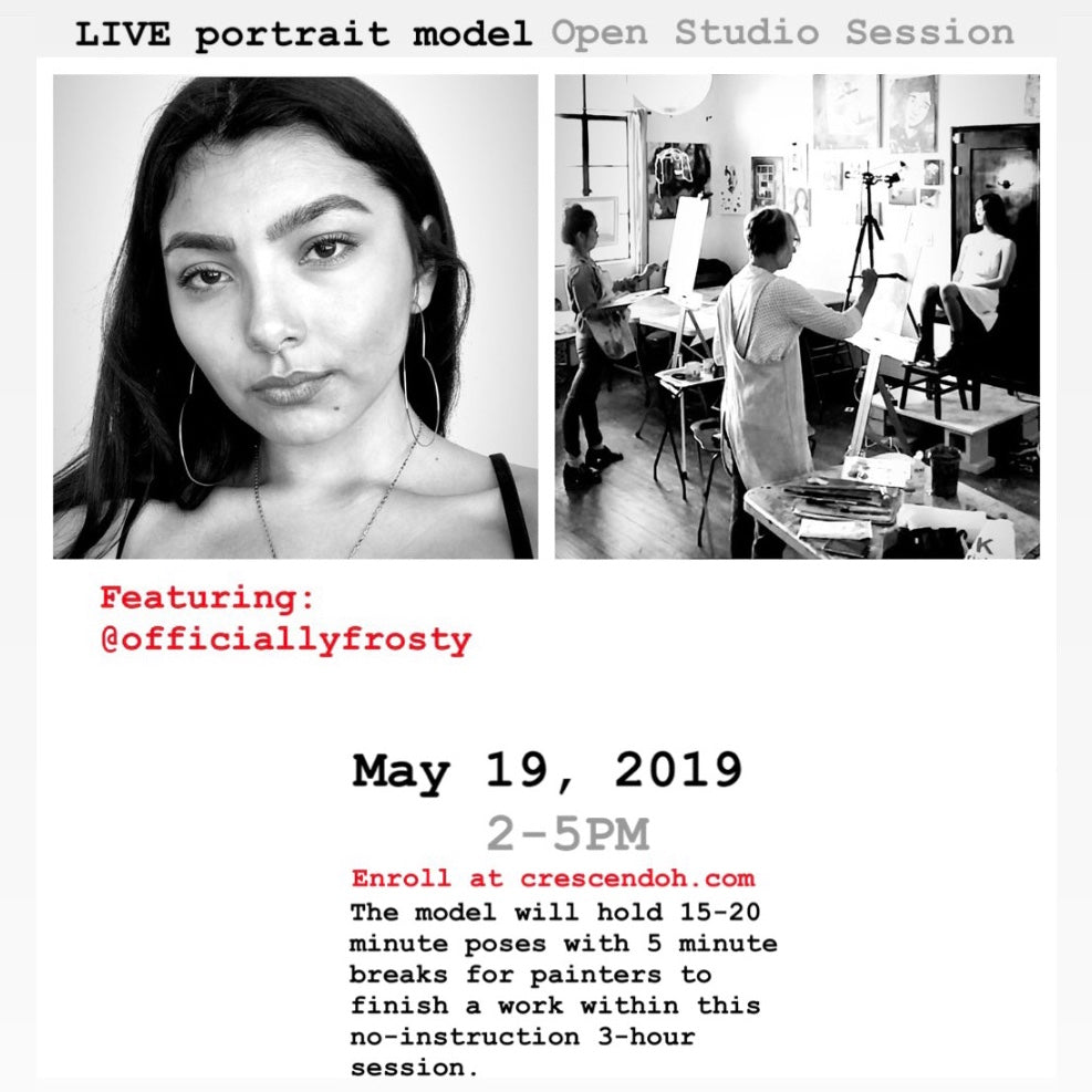 Uninstructed LIVE MODEL Open Studio Session :: May 2019