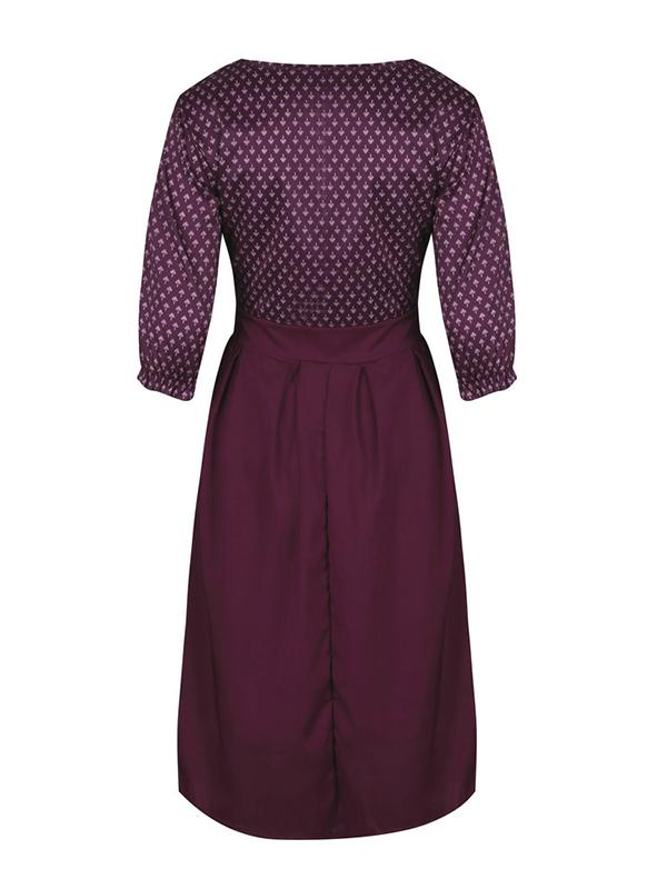 Printed Vintage Polka Dot Dress