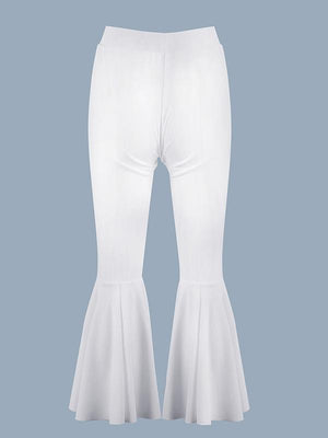 Elastic High Waist Flare Pants