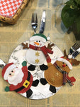 Snowman Shaped Christmas Bags for Knife and Fork Christmas Decorations