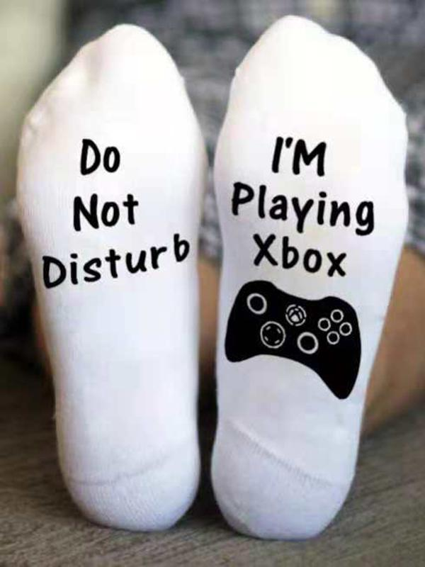 Shhh...I'm playing Xbox Socks