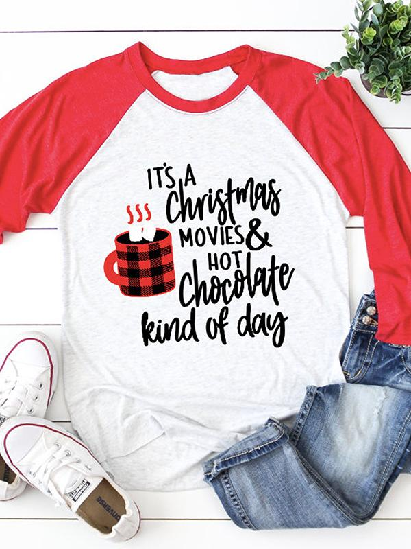 Christmas Movies&Hot Chocolate Baseball T-shirt